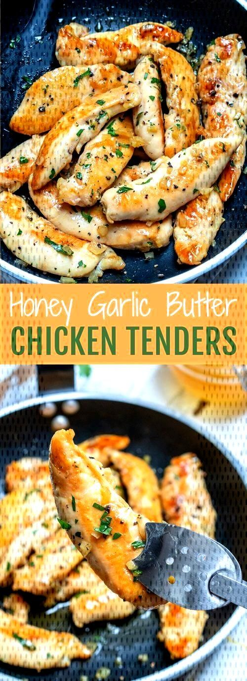 Honey Garlic Butter Chicken Tenders - New Ideas -  -