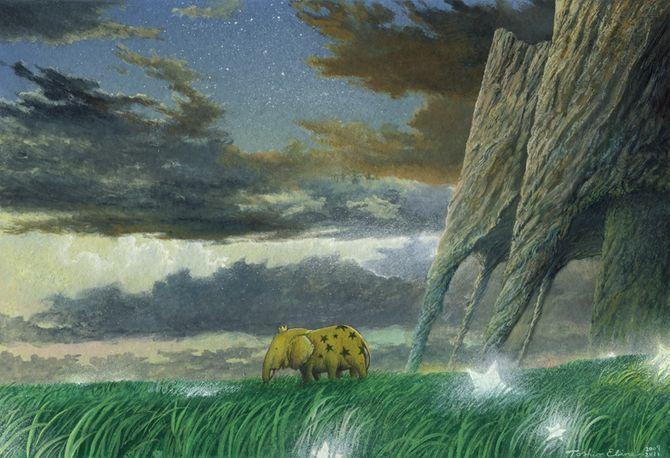 Gouache-Watercolor Romantic Fantasy by Toshio Ebine