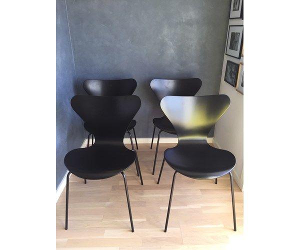 Arne Jacobsen Stoel : Arne jacobsen stol syver 3107 7er 4 unikke syver interior