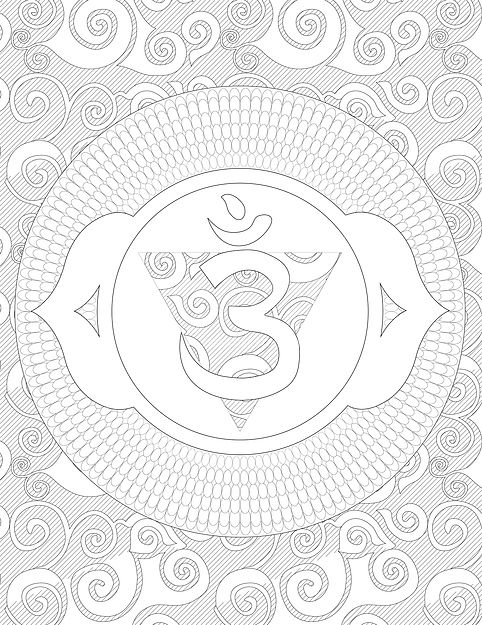 third eye chakra coloring page - Eye Coloring Page