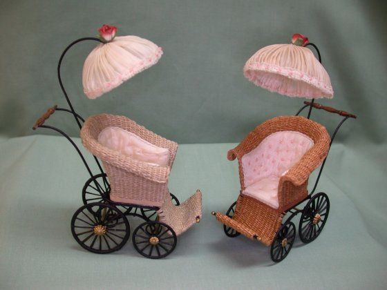 really cute hand-made things on this site -Edwardian Era Wicker Stroller-