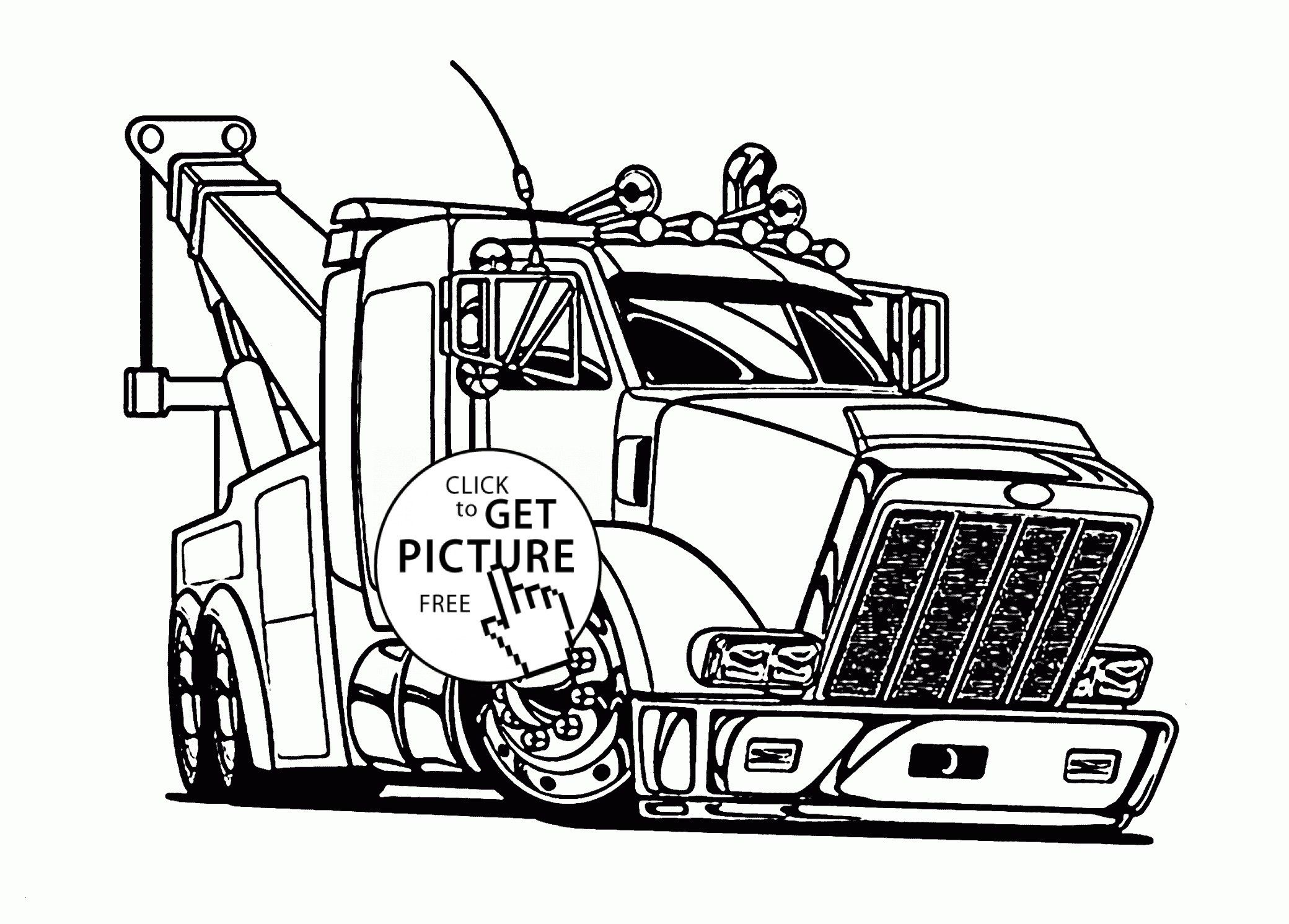 Semi Truck Coloring Pages Semi Truck Coloring Pages Awesome Tow