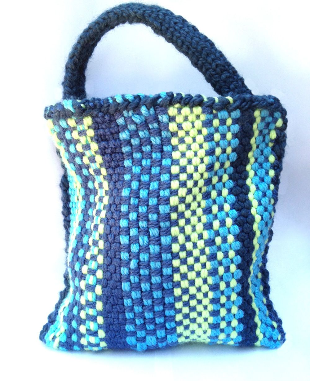 Woven Bag - loom knit | Loom Knit Bags Baskets Totes | Pinterest ...