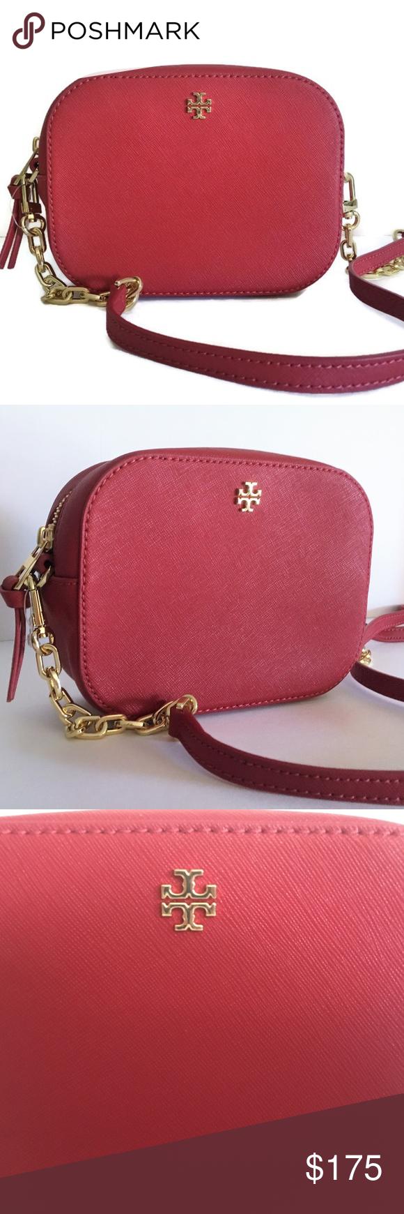 e38f854ed85 Tory Burch Emerson Round Crossbody - Red Handbag This Emerson Round  Cross-Body from Tory