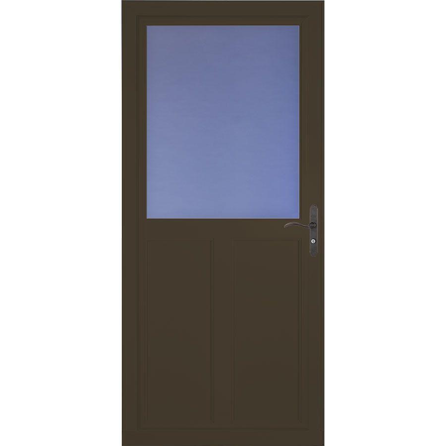 Larson Tradewinds 36 In X 81 In Brown High View Aluminum Storm Door 1460804257 In 2020 Aluminum Storm Doors Storm Door Aluminum Screen Doors
