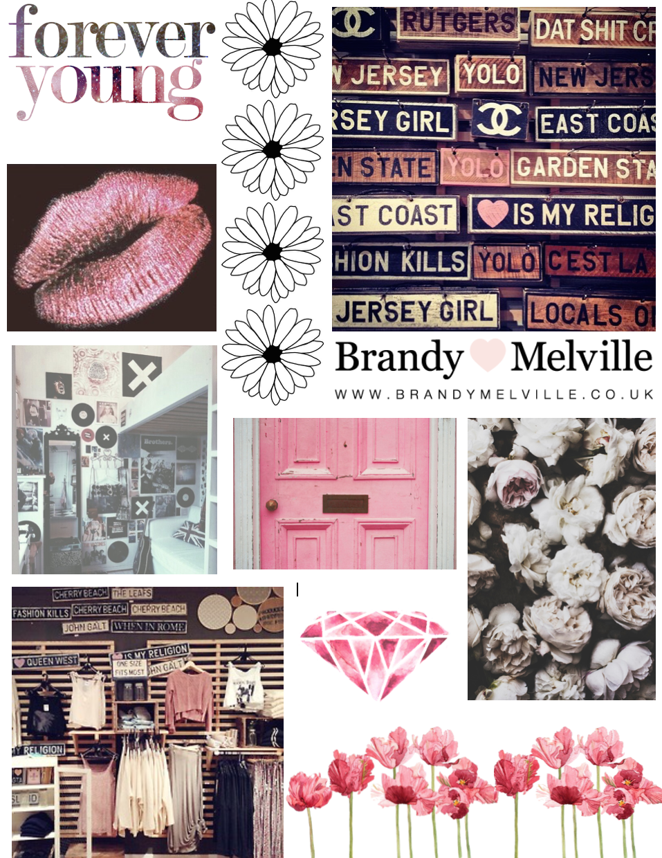 pretty pink collage page | Notebook ideas | Pinterest ...