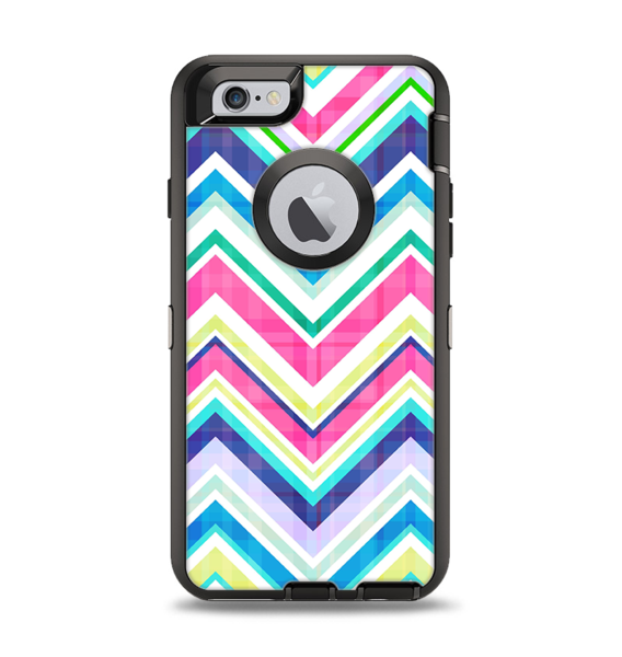 wholesale dealer 11be5 405ef The Vibrant Pink & Blue Layered Chevron Pattern Apple iPhone 6 ...