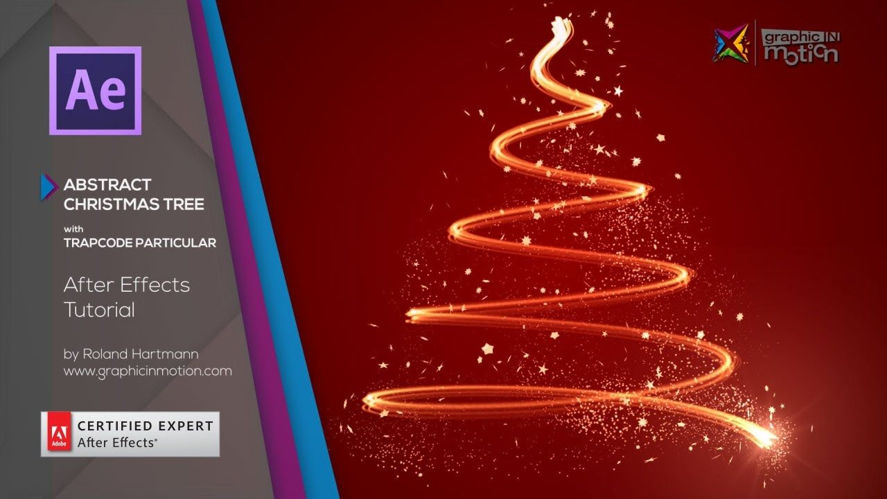 After Effects Tutorial Abstract Christmas Tree With Trapcode Particular Tutorial After Effect Tutorial Christmas Tree