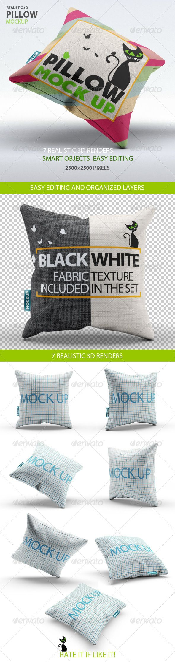 Pillow Mock Up | GraphicRiver
