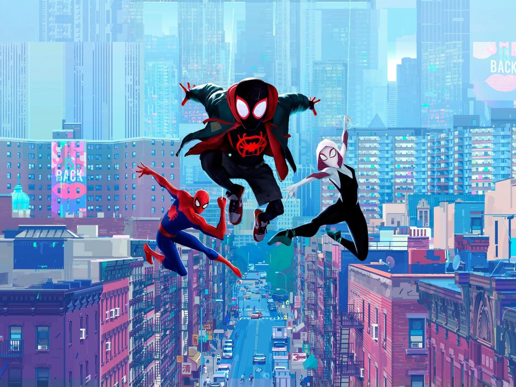 Desktop Wallpaper Movie Fan Art Spider Man Into The Spider Verse Hd Image Picture Backgrounds 059a85 Spiderman Spider Verse Superhero Wallpaper
