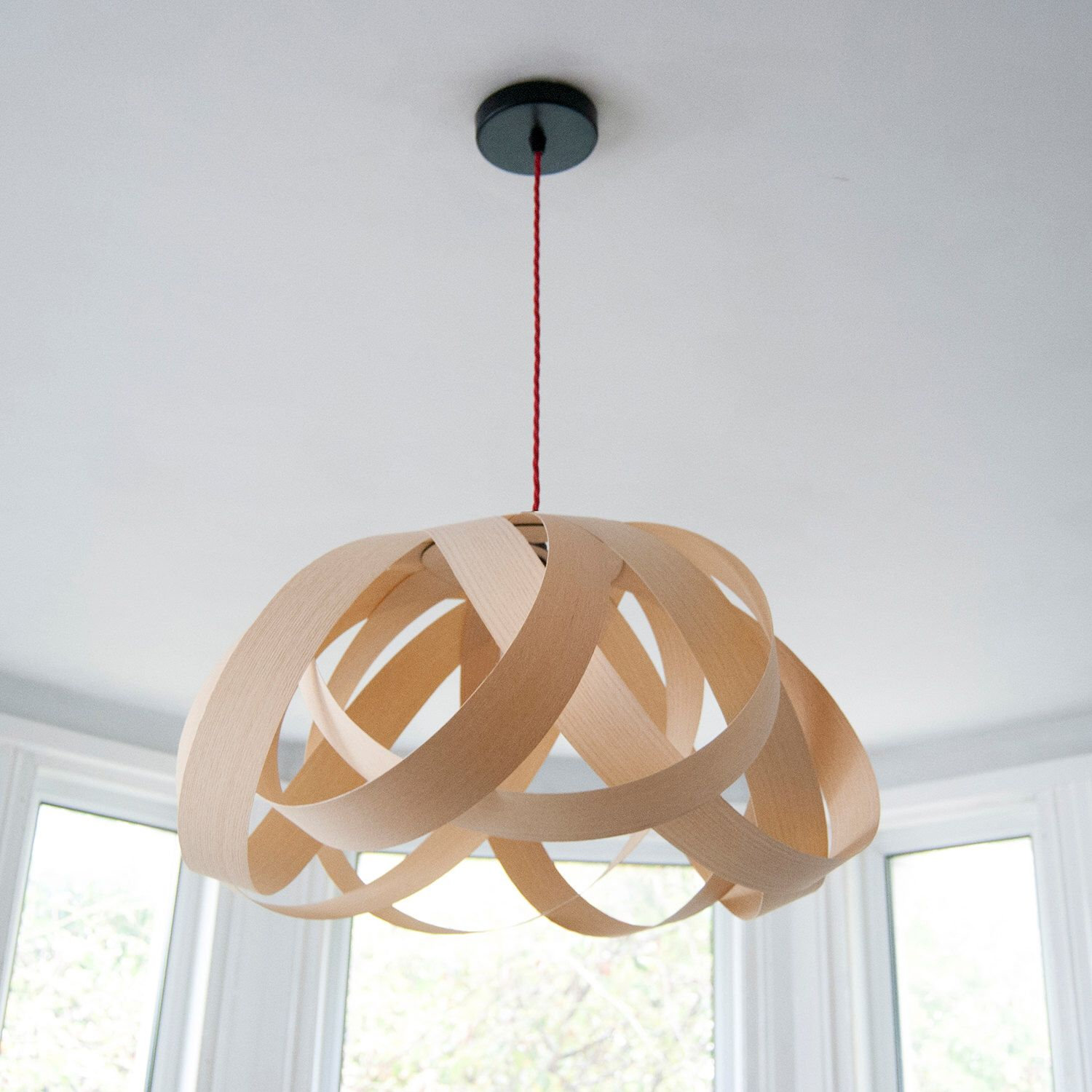 Daisy dining room pendant lampshade (ash wood)