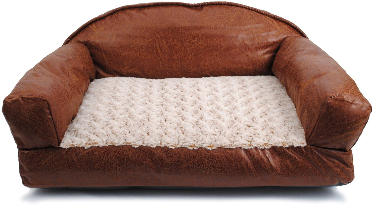 Brinkmann Pet 29 Inch By 19 Faux Leather Sofa Bed