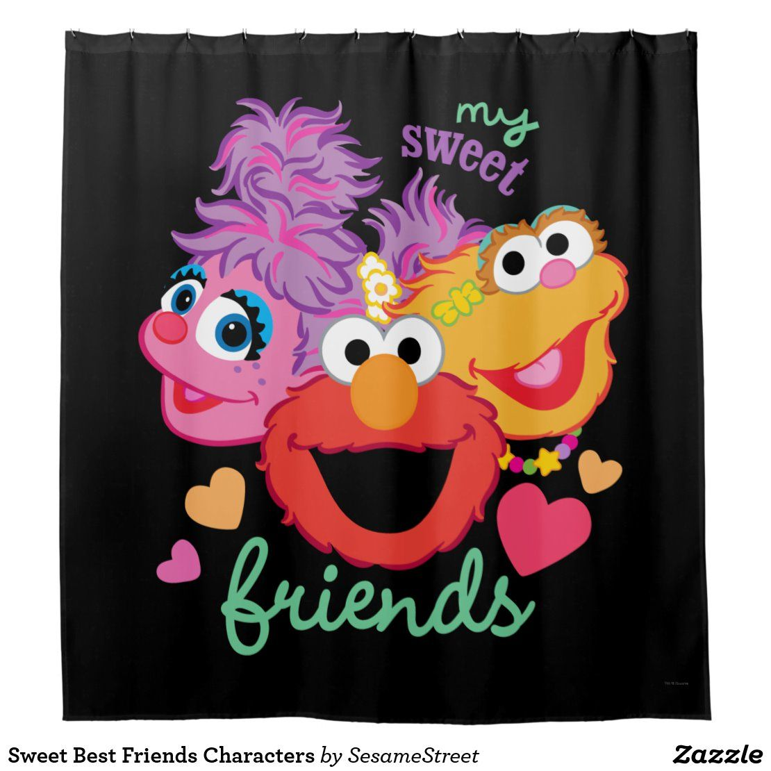 Sweet Best Friends Characters Shower Curtain Zazzle Com In 2020