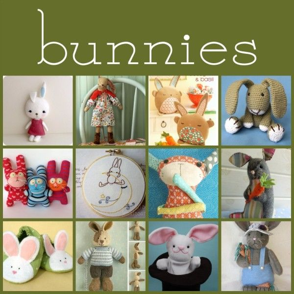 A great round up of soft toy patterns: this week it's bunnies!