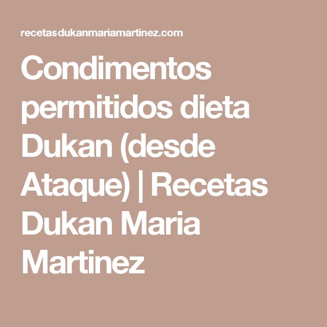 Condimentos permitidos dieta Dukan (desde Ataque) | Recetas Dukan Maria Martinez