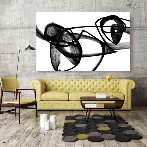 Abstract Poetry in Black and White, Contemporary Unique Abstract ...