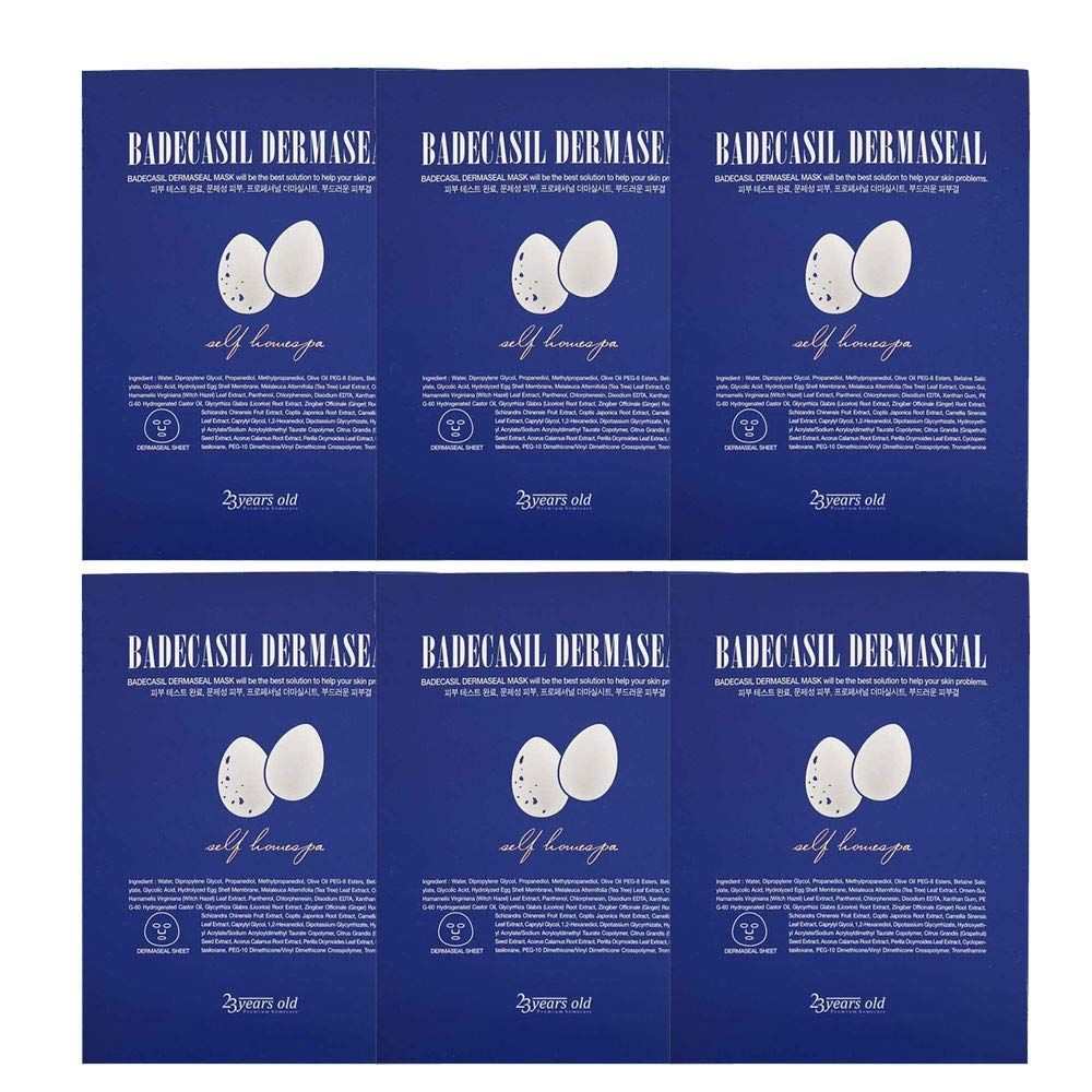 23 Years Old Badecasil Dermaseal Mask 6 Sheets You Can Get Additional Details At The Image Link This Is An A In 2020 Facial Masks Skin Care Routine Skin Care Tips