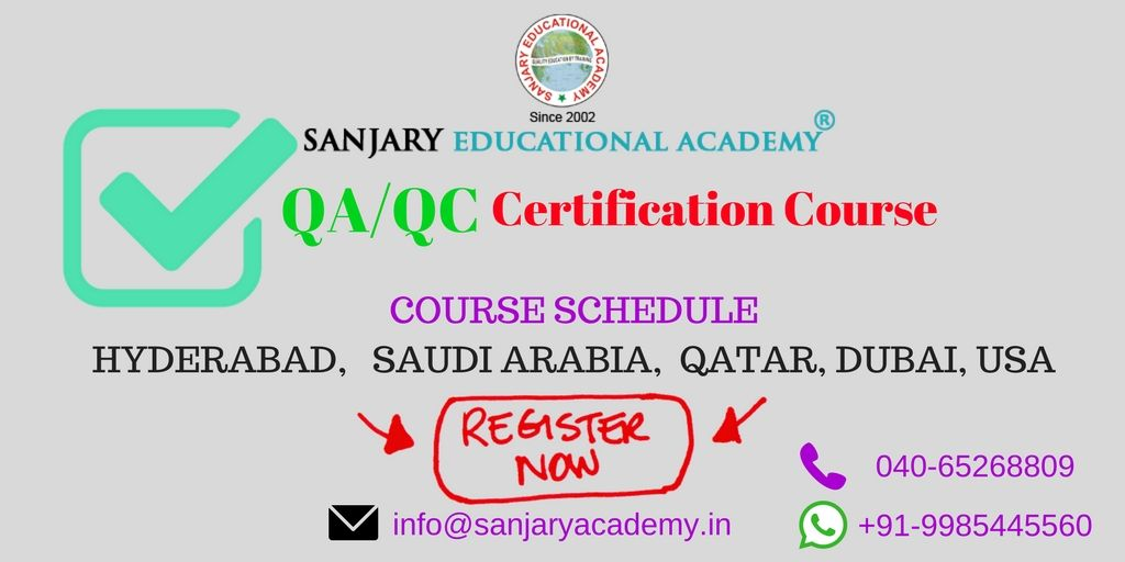 Sanjary Presents Qaqc International Certification Course All Over