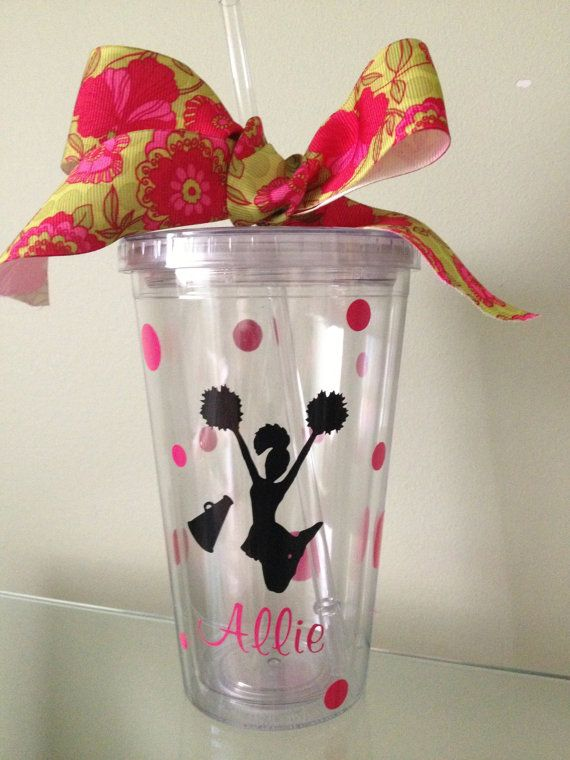 Personalized Cheerleading Tumbler  Pick your by DancingWorkbench, $9.95