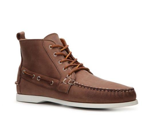 Men's Final Sale - Ralph Lauren Collection Telford Distressed Leather Chukka - Dark Brown