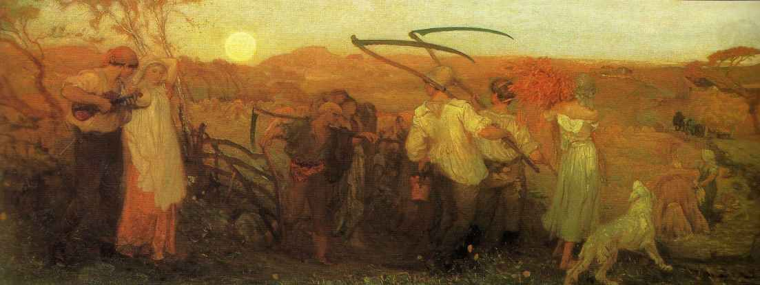 Harvest Moon - George Heming Mason (1872) in 2020   Google art project,  Harvest moon, Moon painting