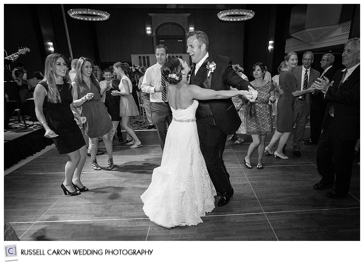 Dancing fun at Angela and Tom's. Portland Maine wedding, Portland Westin Harborview wedding