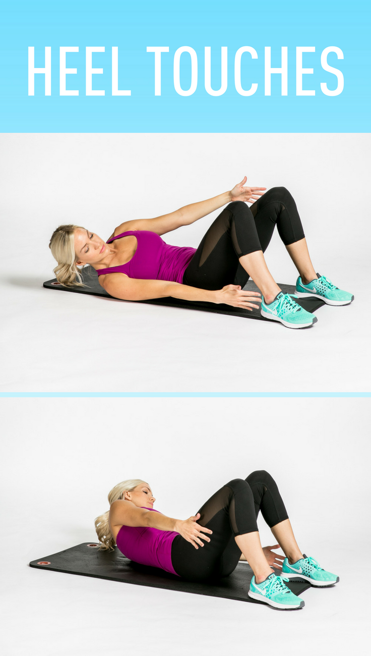 Heel Touches #fitness #stretch #idealshape | All things ...