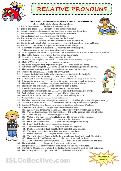 PrimaryLeap.co.uk - Relative pronouns (2) Worksheet | English ...