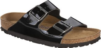 aba84f2748a2 Women s Birkenstock Arizona Soft Footbed Sandal - Black Patent Sandals
