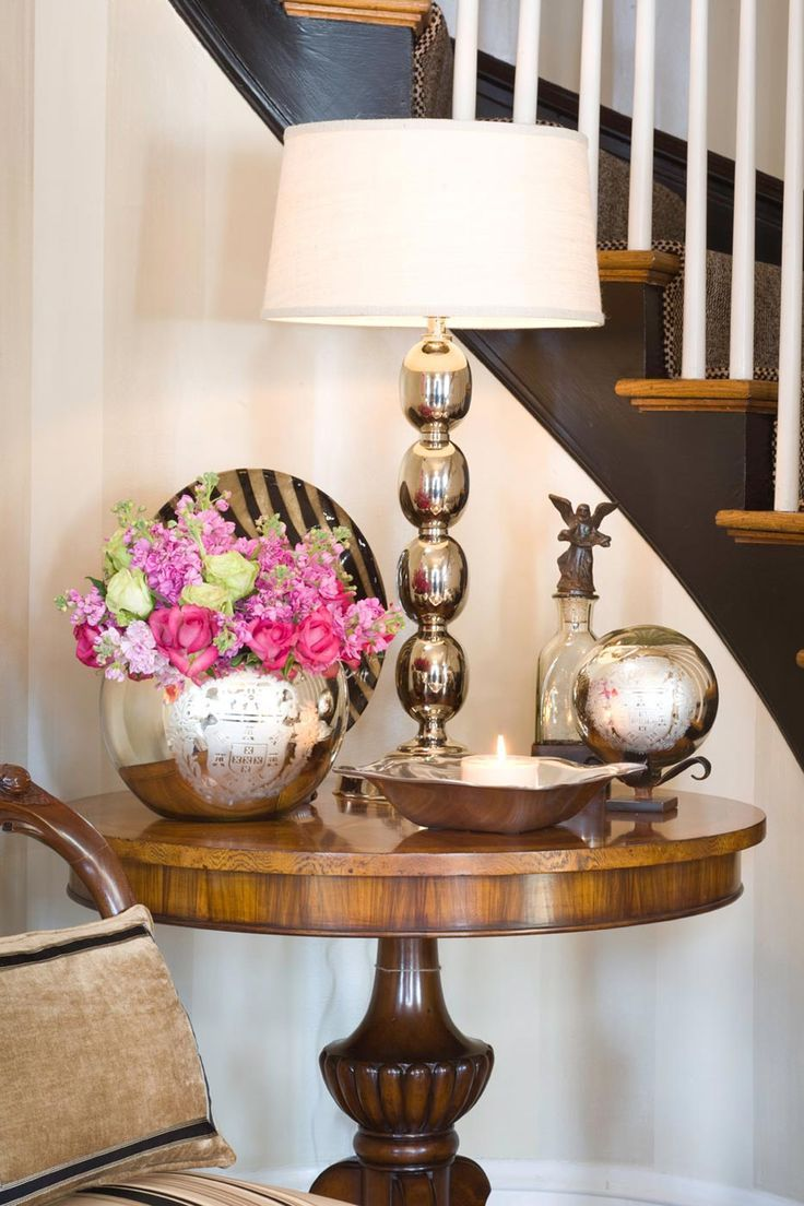 Entryway Round Table Ideas Present Wonderful Decorating