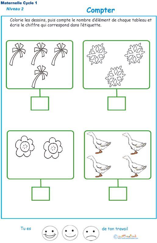 Imprimer l'exercice 3 pour compter maternelle niveau 2 ...