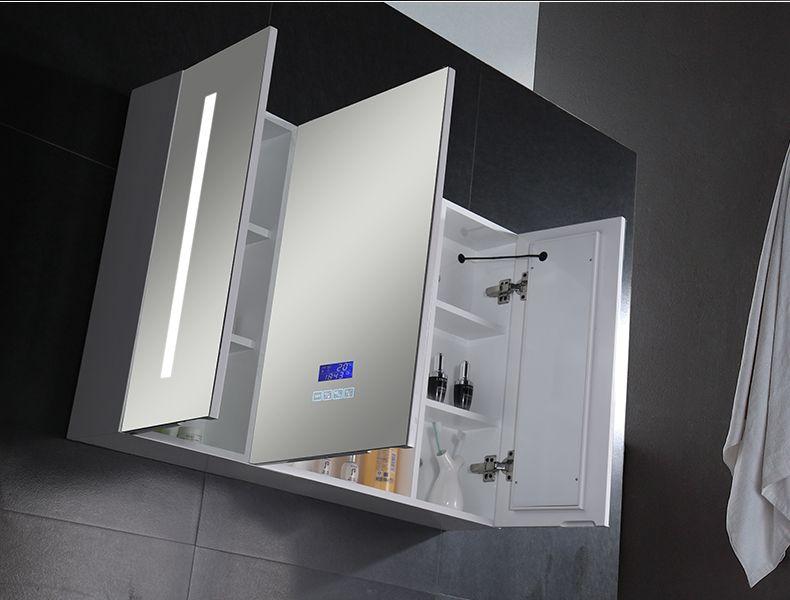 Mirror Cabinet Medicine Cabinet With Led Mirror And Sensor Touch Mirror Cabinets Led Mirror Bathroom Mirror Wall Bathroom