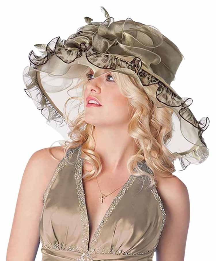FASHIONISTA  Olive Green Large Dressy Derby Hat. Free shipping and guaranteed authenticity on FASHIONISTA  Olive Green Large Dressy Derby Hat at Tradesy. Fashion Statement  Large flower and feather Floppy...
