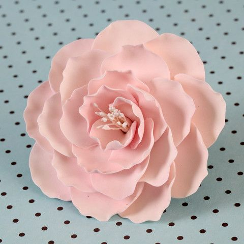 Large Briar Roses Pink Sugar Flowers Tutorial Sugar Flowers Rose Cake Design