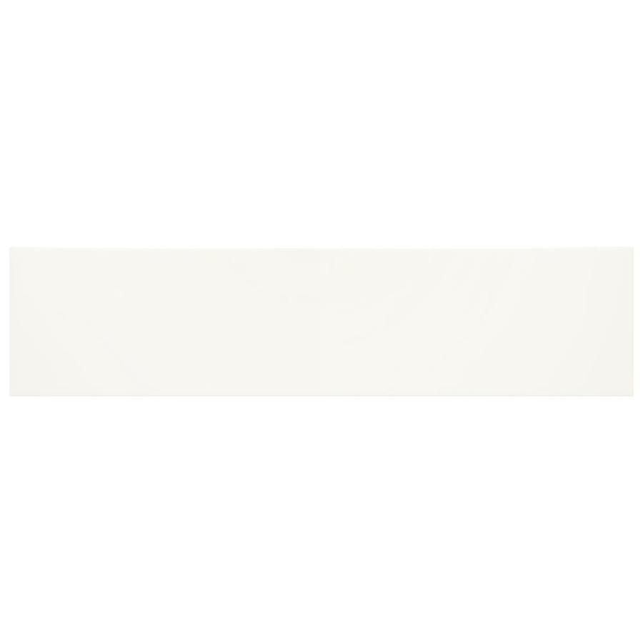 American Olean Starting Line Gloss White Ceramic Wall Tile Common 4 In X 16 In Actual 16 01 In X 4 In 4ish Azulejo De Pared Interceramic Puerta De Vidrio
