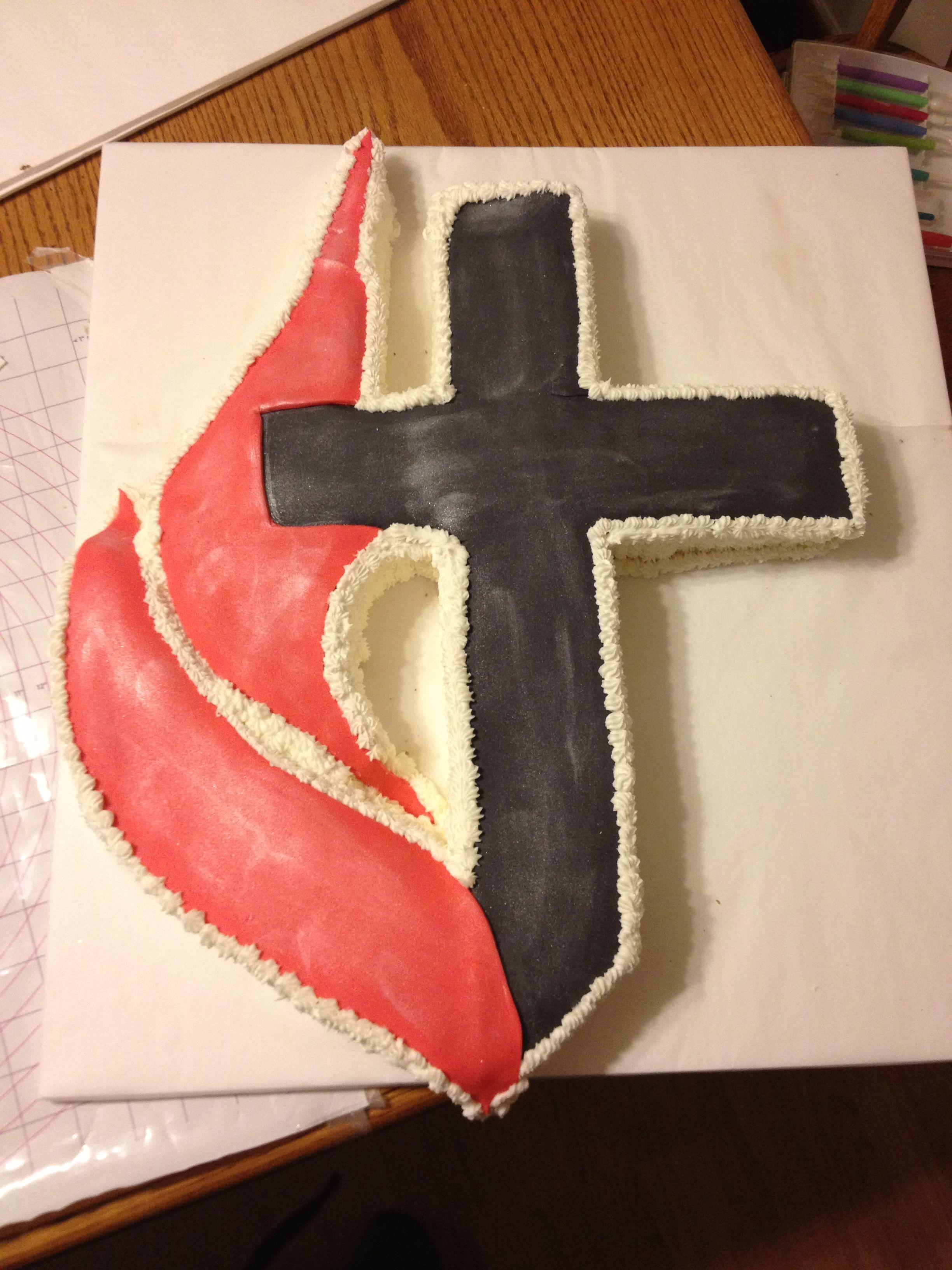 United methodist church cross and flame cake cakes with grace united methodist church cross and flame cake biocorpaavc Choice Image