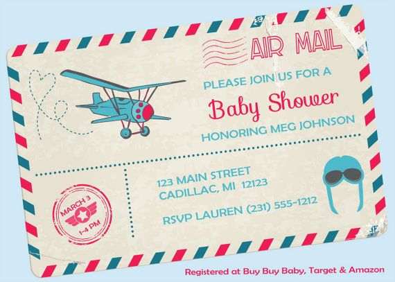 Postcard baby shower invitation pink and blue by fabpartyprints postcard baby shower invitation pink and blue by fabpartyprints filmwisefo