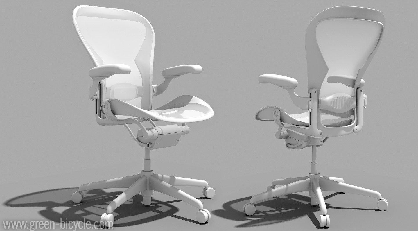 White Aeron Chair Office Modern Final Selection View Detroit Mi