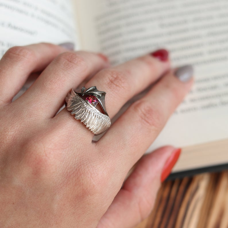 Angel Or Demon Silver Ring Etsy Silver Rings Sterling Silver Rings