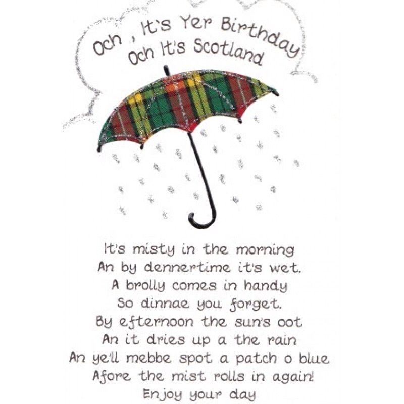 Happy Birthday From Scotland Scottish Quotes Scottish Words Scottish Poems