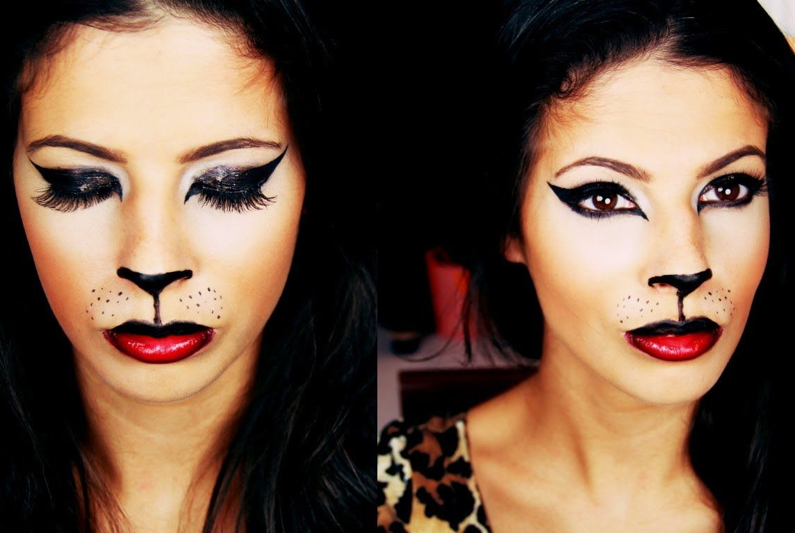 Easy Cat Makeup Tutorial Halloween Makeup Tutorial Cat Halloween Makeup Cat Makeup Cat Makeup Tutorial