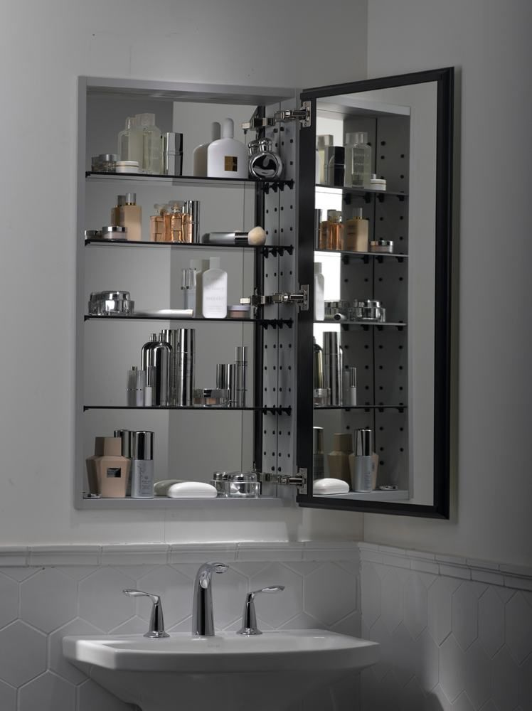 bathroom medicine cabinets with mirrors | kohler k-2913-pg-saa