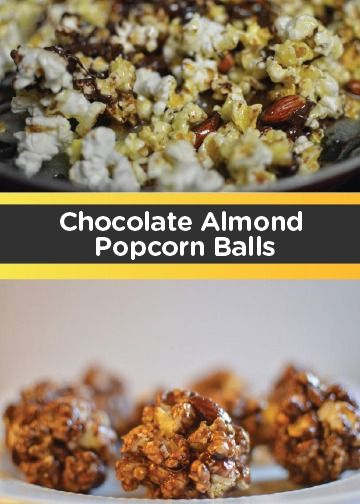 kids in the kitchen and whip up this Chocolate Almond Popcorn Balls ...