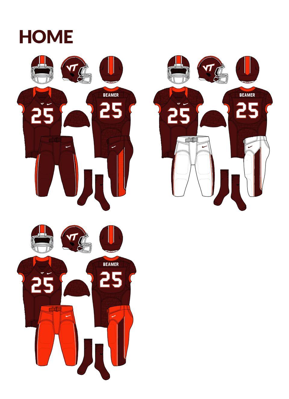 Virginia Tech Hokies Logo and Uniform Concept on Behance