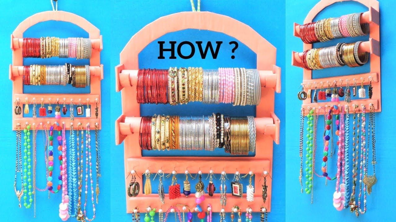 Photo of How to make Bangle Holder at Home with waste Cardboard | Best out of waste | DIY jewellery organizer