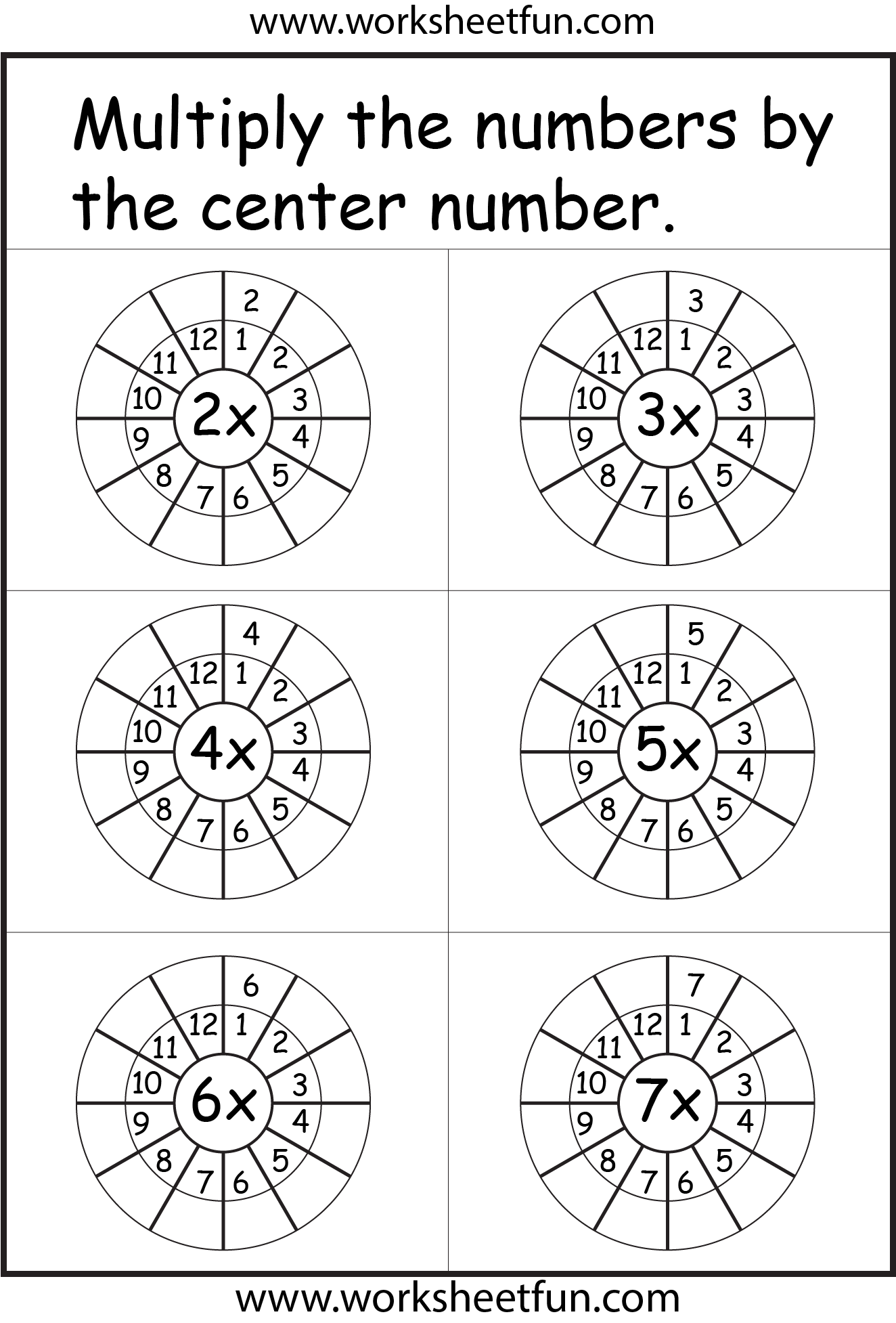2 3 4 5 6 Amp 7 Times Tables Worksheets With Images