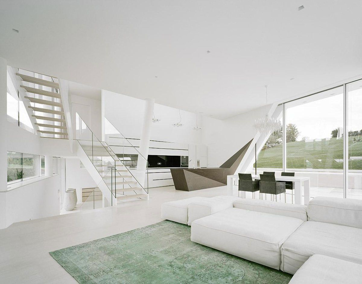 Glass Balustrades Home Interior Among Modern Design Decorated With ...
