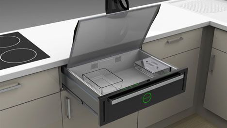 Microwaves Are Great To Have In A Kitchen But They Tend Take Up Sizable Chunk Of Counter E This Concept Design Sticks Microwave Drawer