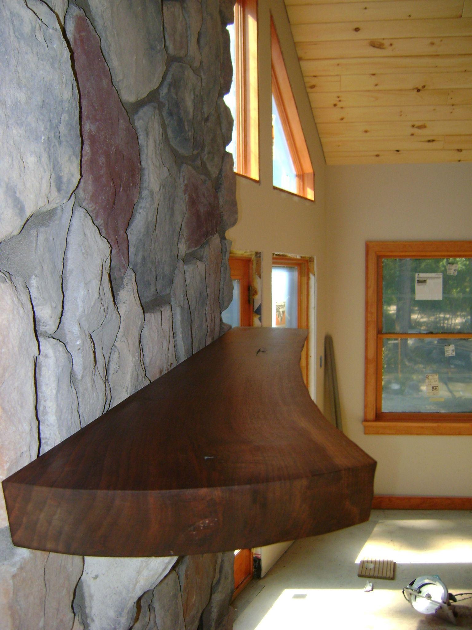 Walnut Slab Fireplace Mantle Living Room Pinterest Walnut Slab Fireplace Mantles And Mantle