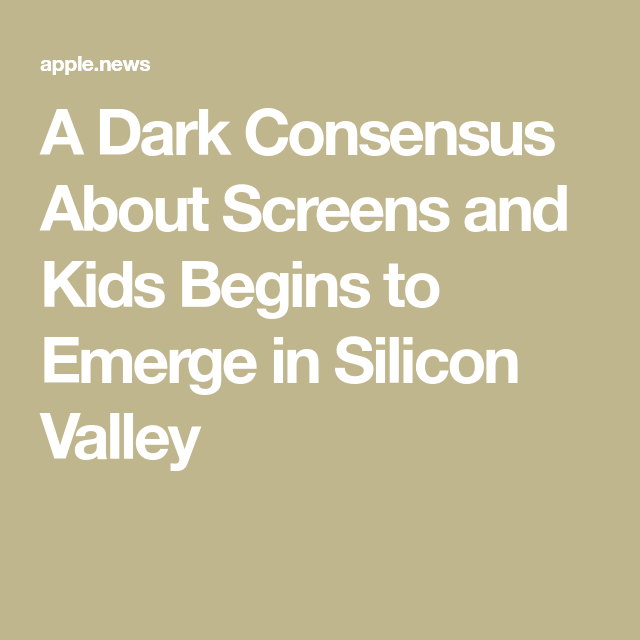 5437dbf9c66d9 A Dark Consensus About Screens and Kids Begins to Emerge in Silicon Valley  Begin